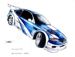 NFS Most wanted BMW m3 gtr by SamanthaErikArt27