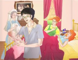 Birth of Lily Potter colored by Hollyboo2001