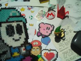 My Kirby Perler for Iwata's Memorial by MarioSimpson1