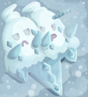 Snowstorm Pokemon by clairefable