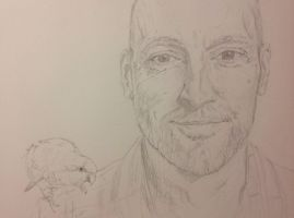 Parrot and Derren Brown by SheenaBeresford