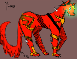 Yama colored by BabyGryphon