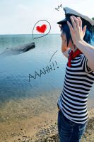 GoRiLLaZ Cosplay 180 2D Whale by Murdoc-lein
