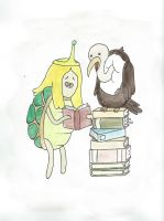 Turtle Princess and Billy by starbuxx