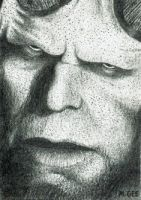 Hellboy - Sketch card by mikegee777