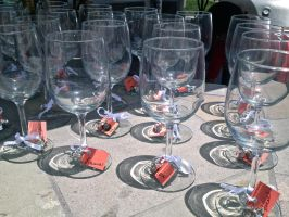Bridal Shower Glasses by la-sirena