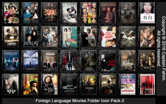 Foreign Language Movies Folder Icon Pack-2 by CaptainFahim