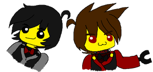 Khoall and Kaey as legos by Khoall-teh-Ninja