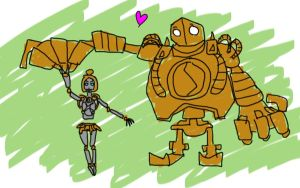 Orianna and Blitzcrank by Lorba23