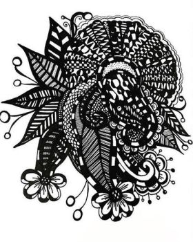 Zentangle by zoeyjenae