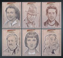 Indiana Jones sketch cards by pungang