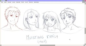 Mustang Family sketch by NoVaNoah