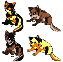 ChaseXSunny Puppies by MonsoonWolf