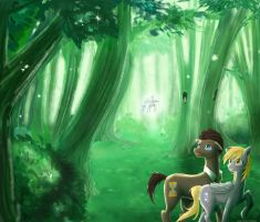 Doctor and Derpy- Fairy Forest v1 by Sweet-Unknown