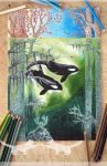 The Flood - Colored Pencil Test ^^ by Alextiy