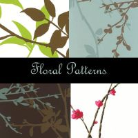 Floral Photoshop Patterns by eMelody