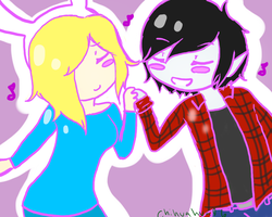AT Fionna and Marshall lee by chihuahua96