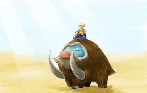 PokeBound : Mamoswine by KyoAkiyamako