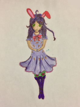 Art Trade: Oc Bunny Girl for Sumirechii by nerdermily
