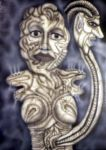 Rauchende Frau mit Tumor-smoking woman with tumor by sebdot