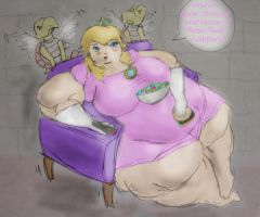 Obese Peach. by ExtraBagageClaim