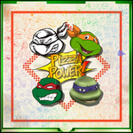 Tribute in a Pizza Box TMNT 25 by theblindalley