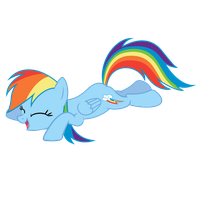 Rainbow Dash - Rolling on Floor Laughing by Saphyl