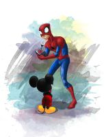 DM: Mickey and Spidey by Boramy