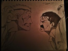 Scar vs Fuhrer King Bradley (Wrath) by TheLegacyOfJP