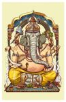 Ganesha Color Print by piratesofbrooklyn