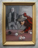 Freddy Vs Jason Miniature by JadeMoonRabbit