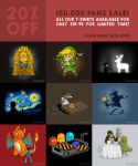 20% OFF on all T-Shirts and Hoodies!! by Naolito