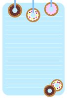 Donut Stationery by FraeuleinAbart