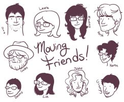Moving Day Friends by rosalarian