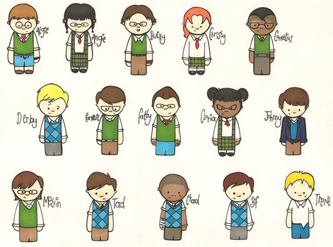 Bully Characters 2 by RedonkulousEmmy