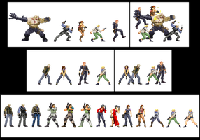 Resident evil 6 all the sprites by Riklaionel