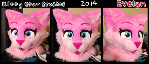 Evelyn fursuit head by stormfurs