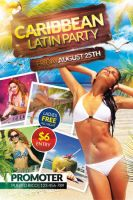 Caribbean Latin Party | Flyer + Facebook Cover by Valery-10