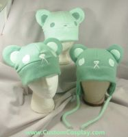 Mint bear hats by The-Cute-Storm