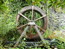 The resting watermill by drums-r-cool