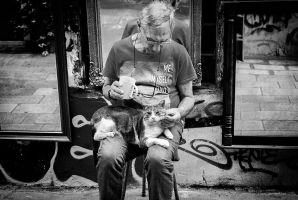 .and his cat by Catherine-Di