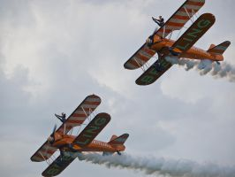 Brietling Wingwalkers Sywell by davepphotographer
