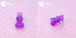 Sparkly bunny Ring by CuteMoonbunny