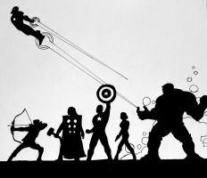 The Avengers by Philanthropic-Racoon