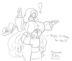Miruku And Cicilia Bday Hug Sketch by Anubis2Pabon288