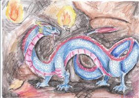 Schoolwork 1 - Eastern dragon by Elzux
