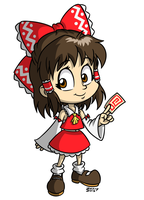 Toon Reimu by zwimmy