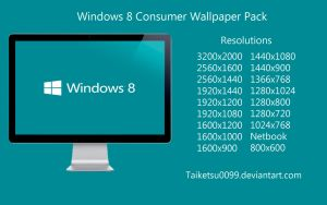Windows 8 Consumer Wallpaper Pack by Taiketsu0099 by Taiketsu0099