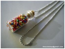 .:Bottle ball necklace:. by SaMtRoNiKa
