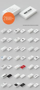 21 Clean Minimal Business Cards by thearslan